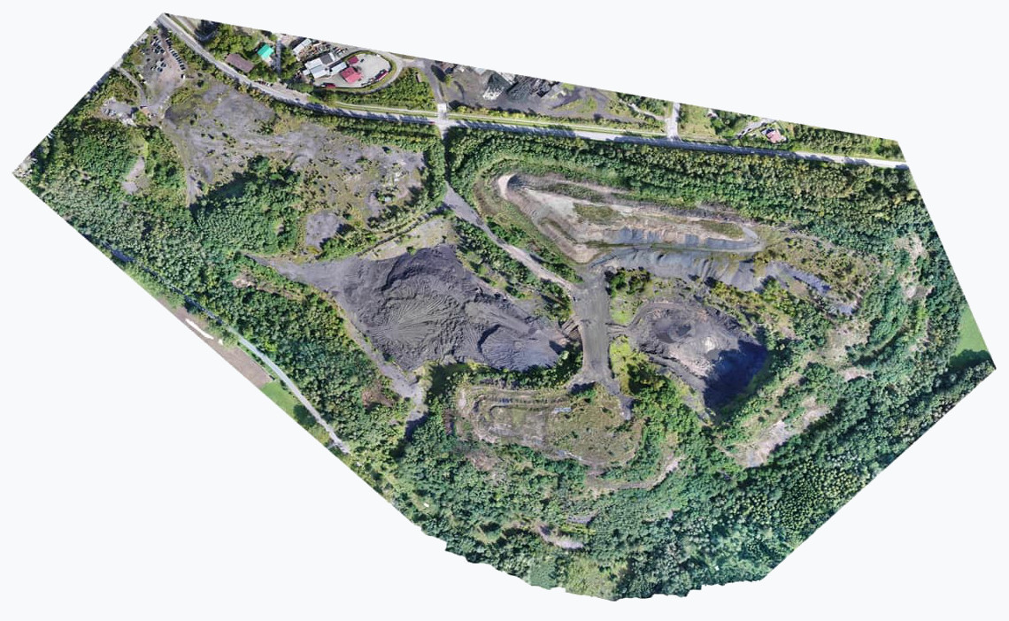 Mapy modele terenu 3D Dron