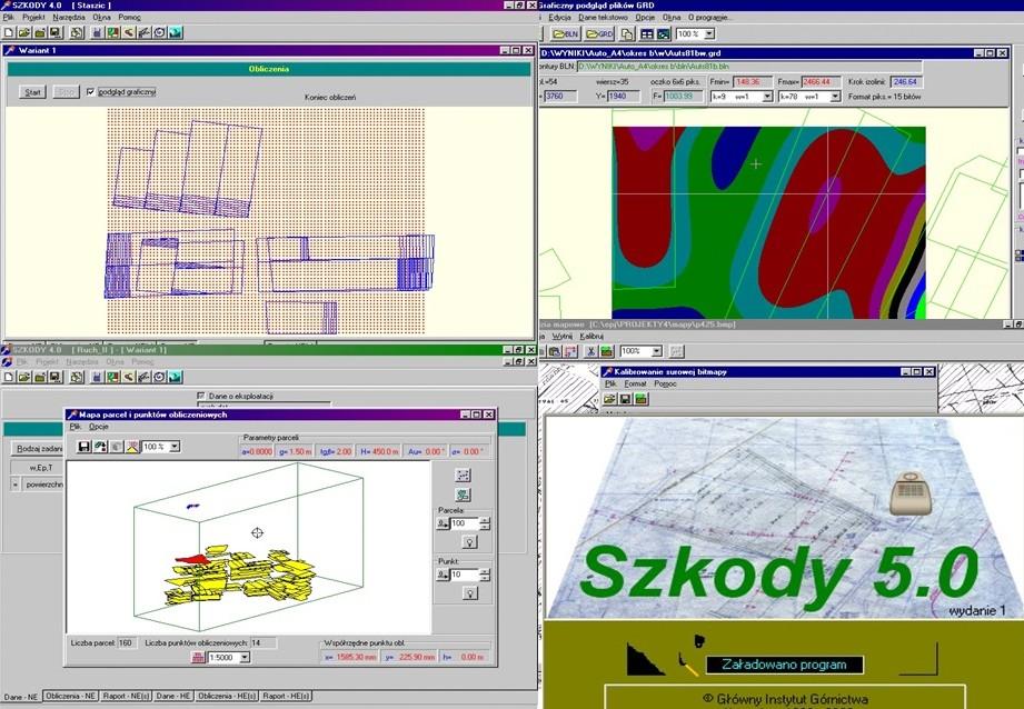 Program doprognozowania górniczych deformacji powierzchni